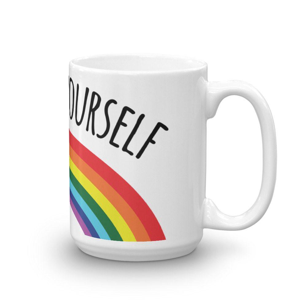 Go Fuck Yourself Rainbow Coffee Mug