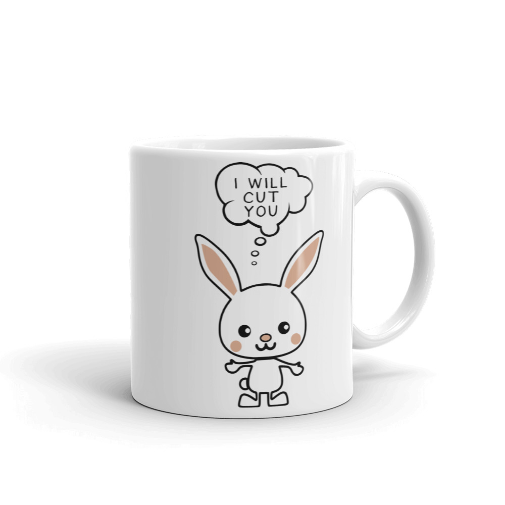 I Will Cut You Bunny Coffee Mug